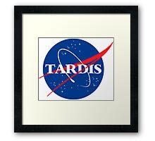 Tardis Nasa logo Doctor Who Framed Print