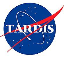 Tardis Nasa logo Doctor Who Photographic Print