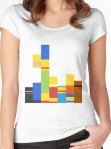 Simpsons Palette Women's Fitted Scoop T-Shirt