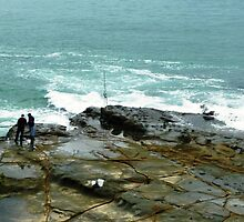 Fishing off the rocks - Port Fairy, Vic. Aust. by EdsMum