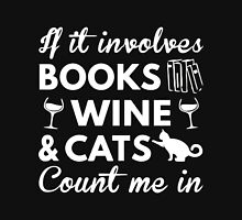 CATS AND BOOK Unisex T-Shirt