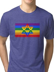 Star of david gay rainbow Tri-blend T-Shirt