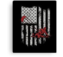 Kitesurf-kitesurfing shirt- kite surfing flag us 4th july Canvas Print
