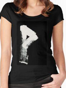 Runes - Elder Futhark - 0008 - Wunjo - Inverted Women's Fitted Scoop T-Shirt
