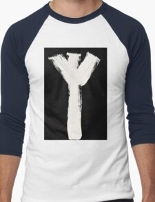 Runes - Elder Futhark - 0015 - Algiz - Inverted Men's Baseball ¾ T-Shirt