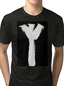 Runes - Elder Futhark - 0015 - Algiz - Inverted Tri-blend T-Shirt