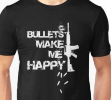 Gun - Bullets Make Me Happy T-shirts Unisex T-Shirt