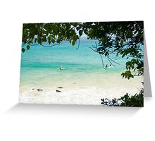 Turquoise & White Wash Greeting Card
