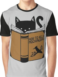 CAT AND BOOK Graphic T-Shirt