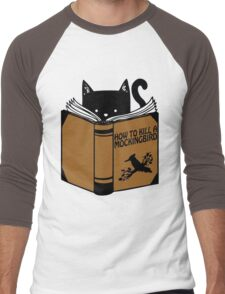 CAT AND BOOK Men's Baseball ¾ T-Shirt