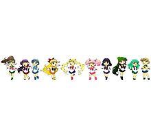 Baby Chibi Sailor Senshi Line Up Photographic Print