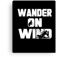 Kitesurf-kitesurfing shirt-Wander on wind kite surfing Canvas Print