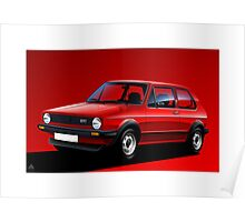 Poster artwork - Golf GTI mk1 Poster