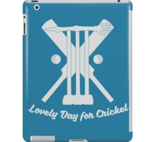 Lovely Day for Cricket iPad Case/Skin