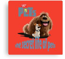 The Secret Life Of Pets Movie  Canvas Print