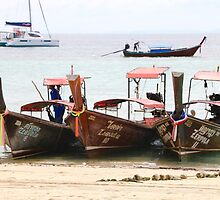 Zeavola Long-tail boats Phi Phi by Robyn Williams