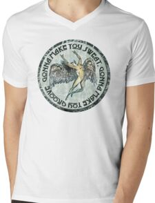 ICARUS THROWS THE HORNS - sweat and groove NEW DESIGN Mens V-Neck T-Shirt