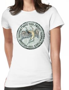 ICARUS THROWS THE HORNS - sweat and groove NEW DESIGN Womens Fitted T-Shirt