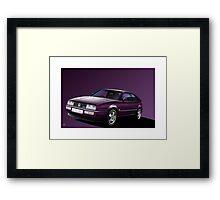 Poster artwork - VW Corrado Coupe Framed Print