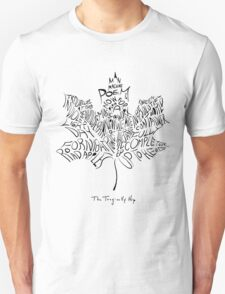 THE TRAGICALLY HIP - typography edition Black summer tour 2016  Unisex T-Shirt