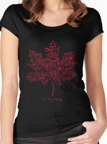 THE TRAGICALLY HIP - typography edition Red summer tour 2016 copy Women's Fitted Scoop T-Shirt