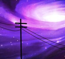 Mysterious Lights Pass Overhead Sticker