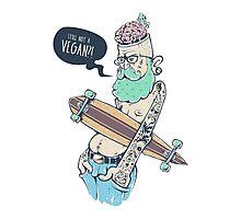 Vegan Hipster Photographic Print