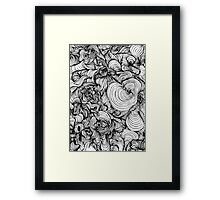 Squiggles on your iPhone - Psychedelic Art Framed Print