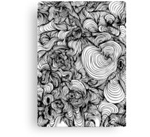 Squiggles on your iPhone - Psychedelic Art Canvas Print