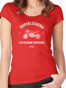 Construzione Superiore - Black Women's Fitted Scoop T-Shirt