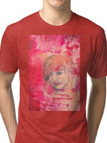 Jaynie - original portrait of a girl Tri-blend T-Shirt