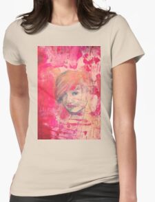 Jaynie - original portrait of a girl Womens Fitted T-Shirt
