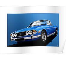 Poster artwork - Tahiti Blue Triumph Stag Poster