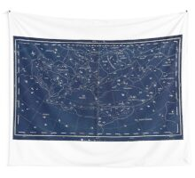 vintage star chart Wall Tapestry