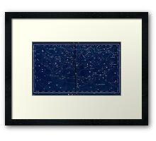 vintage star chart Framed Print