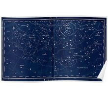vintage star chart Poster