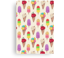 I scream for Icecream! Canvas Print