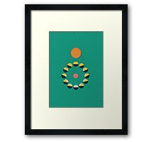 SUN+MOON+EARTH Framed Print