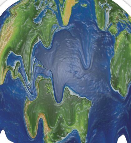 Plastic Earth Sticker