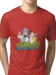 rick and morty get schwifty Tri-blend T-Shirt