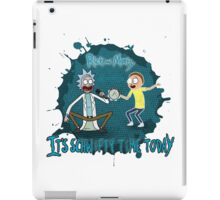rick and morty singing iPad Case/Skin