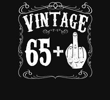 Vintage middle finger salute 66th birthday gift funny 66 birthday 1950 Unisex T-Shirt