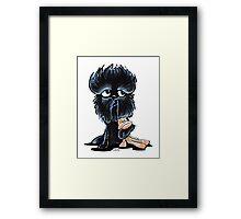 Affenpinscher Monkey Love Framed Print