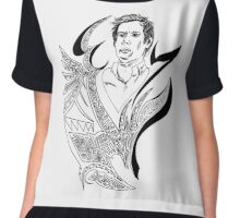 Patrick Stump - Mitochondrial doodle Chiffon Top
