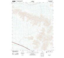 USGS TOPO Map Arizona AZ Estrella 20111025 TM Photographic Print