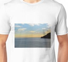 Sunset over the sea in Vernazza Unisex T-Shirt