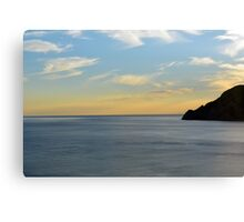 Sunset over the sea in Vernazza Canvas Print