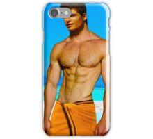 Cute guy at the pool iPhone Case/Skin