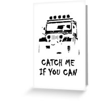 Off Road 4X4 Rover Jeep Hilux AWD 90 110 Cruiser Greeting Card