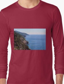 The sea and land from Vernazza. Long Sleeve T-Shirt